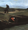 Peat Boat with Two Figures