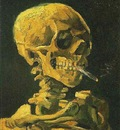 86 Skull with Burning Cigarette