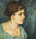 Portrait of Woman in Blue