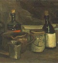 85 Still Life with Bottles and Earthenware