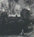 Parsonage Garden at Nuenen with Pond and Figures, The