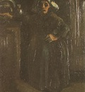 Peasant Woman Standing Indoors