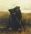 Woman Lifting Potatoes