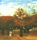 Bois de Boulogne with People Walking, The