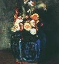 Ginger Jar Filled with Chrysanthemums