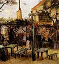 Terrace of a Cafe on Montmartre La Guinguette