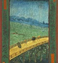 Japonaiserie Bridge in the Rain after Hiroshige