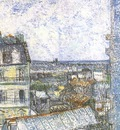 view of paris from vincents room in the rue lepic version
