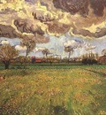 Landscape Under a Stormy Sky