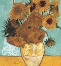 Still Life Vase with Twelve Sunflowers