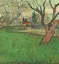 View of Arles with Trees in Blossom