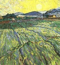 Enclosed Field with Rising Sun