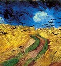 wheat field with crows version