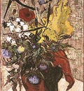 Wild Flowers and Thistles in a Vase