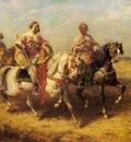Adolf Schreyer Arab Chieftain And His Entourage