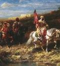 Adolf Schreyer Arab Horseman In A Landscape