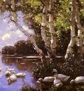 Alexander Koester Elf Enten Unter Birken Und Im Wasser