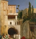 Alexandre Gabriel Decamps Before A Mosque