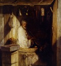 Alexandre Gabriel Decamps Turkish Merchant Smoking In His Shop