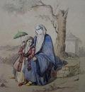 Amedeo Preziosi A Woman And A Little Girl