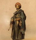 Amedeo Preziosi An Egyptian Man With A Pipe