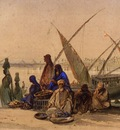 Amedeo Preziosi On The Banks Of The Nile