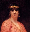 Benjamin Jean Joseph Constant Portrait Of An Arab Woman