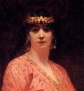 Benjamin Jean Joseph Constant Portrait Of An Arab Woman