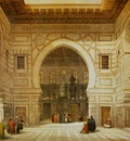 David Roberts Interior Of The Mosque Of The Sultan El Ghoree