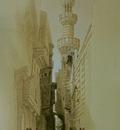 David Roberts Minaret Of The Mosque El Rhamree