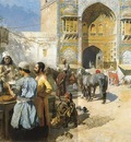 Edwin Lord Weeks An Open Air Restaurant In Lahore