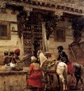 Edwin Lord Weeks Craftsman Selling Cases By A Teak Wood Building in Ahmedabad