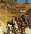 Edwin Lord Weeks The Maharahaj Of Gwalior Before His Palace