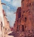 Etienne Dinet A Street in Laghouat