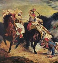 Eugene Delacroix Combat Of The Giaour And The Pasha