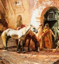 Frederick Arthur Bridgman A Street Scene In Morocco