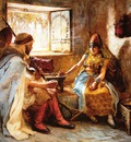 Frederick Arthur Bridgman The Game Of Chance