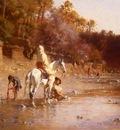 Gustave Guillaumet Achille La Riviere A El Kantara