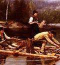 Jahn Ekenaes Fischfang Am Flusse