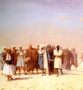 Jean Leon Gerome Egyptian Recruits Crossing The Desert