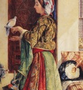 John Frederick Lewis Girl With Two Caged Doves