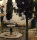 John Singer Sargent Alhambra Patio De La Reja