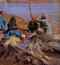 John Singer Sargent Egyptians Raising Water From The Nile