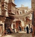 John Varley A Street In Boulaq Near Cairo