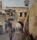 Leonardo De Mango A Street Scene