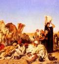 Leopold Carl Muller Rast In Der Wuste Bei Gizeh