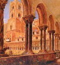 Rudolf Alt A View Of Monreale Above Palermo