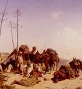 Theodore Horschelt Mittagruhe In Algier