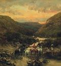 Victor Pierre Huguet Ravine Near Biskra