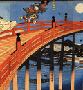 The moonlight fight between Yoshitsune and Benkei on the Gojobashi%2CKyoto